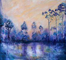 Violet Landscape by Lorna Gerard