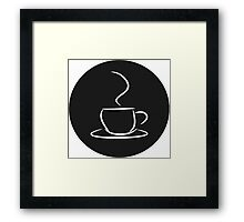 Cafe, Coffee Logo Design Framed Print