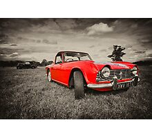 Red TR4  Photographic Print