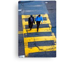 San Francisco crosswalk Canvas Print