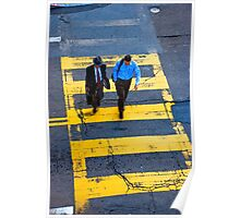 San Francisco crosswalk Poster
