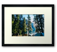 Morning at the campsite Framed Print