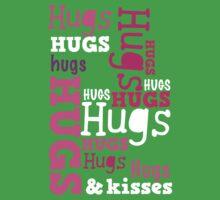 Cute hugs word design Kids Clothes