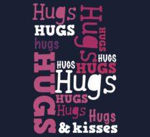 Cute hugs word design Kids Tee