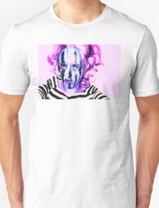Faces Of Beautiful Horror- Image 6/Pink Hair Unisex T-Shirt