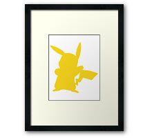 pikachu shadow Framed Print
