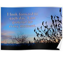 "I look forward to each day featured in ""For the Love of Jesus"" Poster"