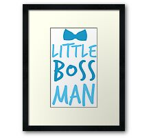 Little boss man with cute bow tie Framed Print