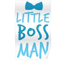 Little boss man with cute bow tie Poster