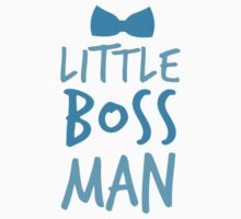 Little boss man with cute bow tie Kids Tee