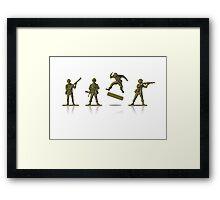 khaki kickflip Framed Print
