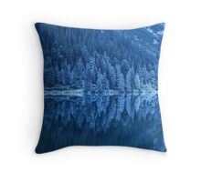 Frozen forest Throw Pillow