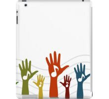 Hand music iPad Case/Skin