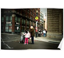Grandmother and child, Boston, MA, USA Poster