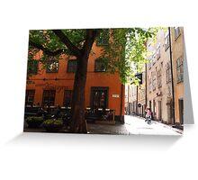 Gamla Stan in Stockholm Greeting Card