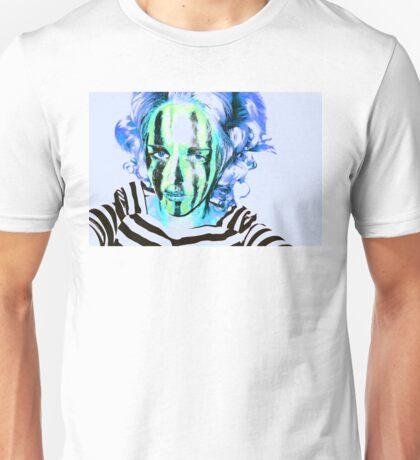 Faces Of Beautiful Horror- Image 6/Blue Hair Unisex T-Shirt
