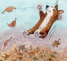 Nothing beat jumping in leaves by SusanAlisonArt