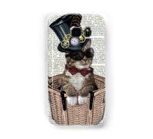 Vintage Steampunk Cat Samsung Galaxy Case/Skin