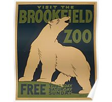 WPA United States Government Work Project Administration Poster 0859 Visit The Brookfield Zoo Poster
