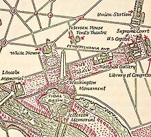 Washington DC Vintage Map by PrieeCase82