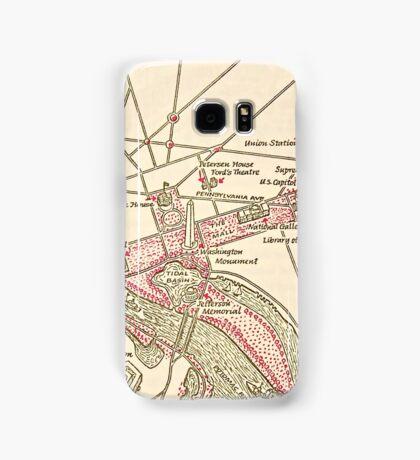 Washington DC Vintage Map Samsung Galaxy Case/Skin