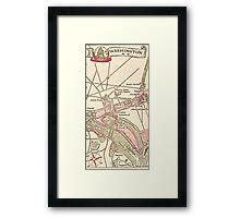 Washington DC Vintage Map Framed Print