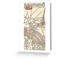 Washington DC Vintage Map Greeting Card
