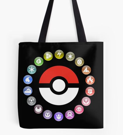 Pokemon Type Wheel Tote Bag