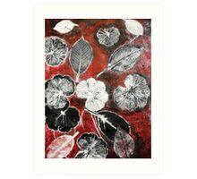 November's Garden  1 - Monoprint Art Print