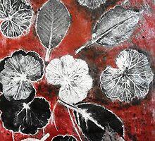 "November's Garden  1 - Monoprint by Belinda ""BillyLee"" NYE (Printmaker)"