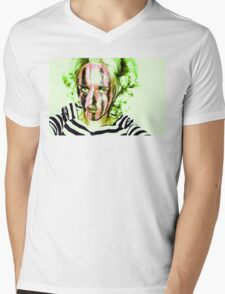 Faces Of Beautiful Horror- Image 6/Green Hair Mens V-Neck T-Shirt