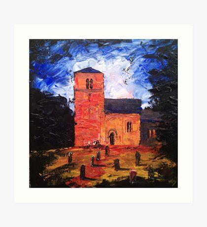'Saxon Church, Kirk Hammerton' Art Print