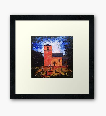 'Saxon Church, Kirk Hammerton' Framed Print