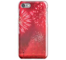 Red Australia Day Fireworks iPhone Case/Skin