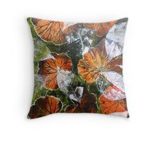 November's Garden 6 - Monoprint Throw Pillow