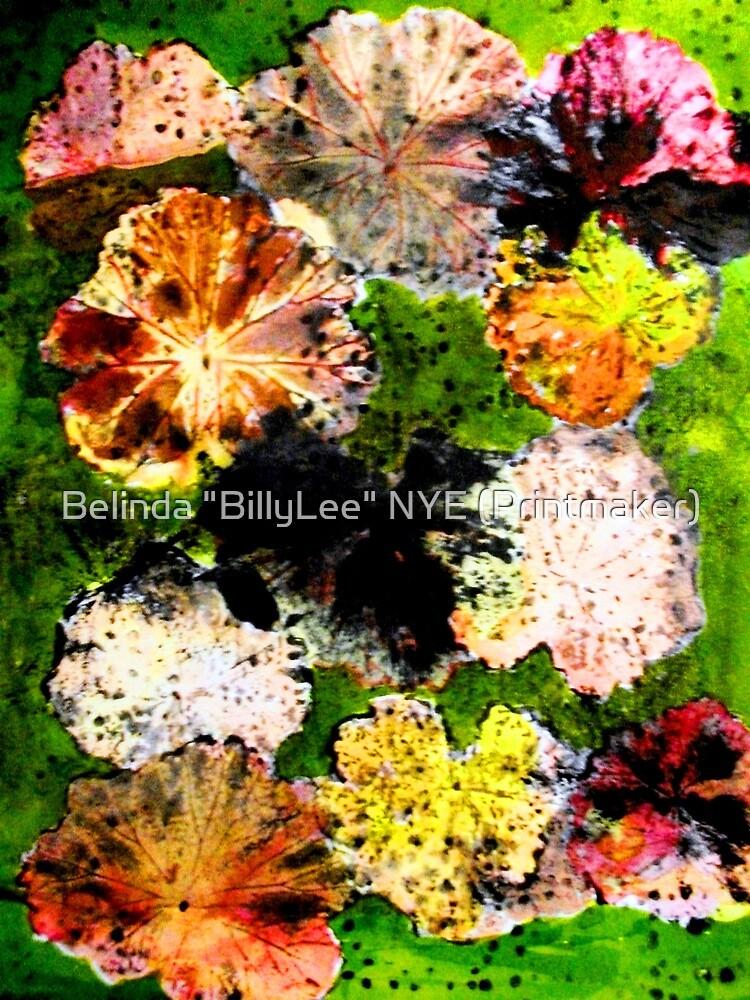 "Novembers Garden 12 Monoprint by Belinda ""BillyLee"" NYE (Printmaker)"