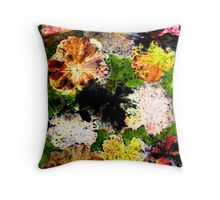 Novembers Garden 12 Monoprint Throw Pillow