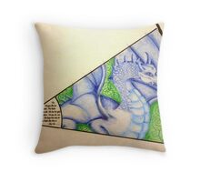 "Dragon Sight - My piece for the Collaboration:  ""In the Eye of the Beholder - 8 Artists, 1 piece"" Throw Pillow"