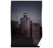 TARDIS at the castle Poster