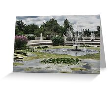 Italian Garden, Hyde Park. Greeting Card
