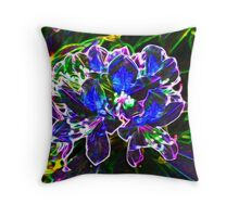 A Psychedelic Rhododendrum Throw Pillow