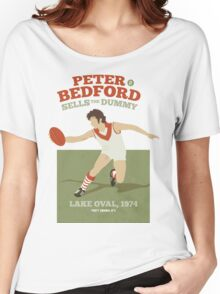 Peter Bedford, South Melbourne - white shirts Women's Relaxed Fit T-Shirt