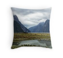 Typical Milford Sound Throw Pillow