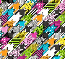 Houndstooth  Geometric Popart Doodle by CajaDesign
