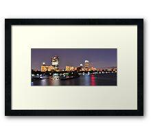 Boston night view Framed Print