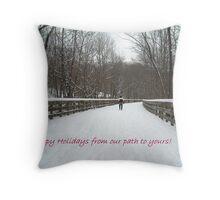 Holiday Walk Throw Pillow