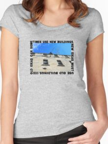 New Ideas Must Use Old Buildings, Jane Jacobs Women's Fitted Scoop T-Shirt