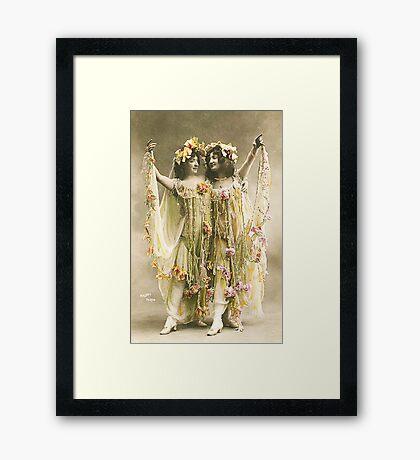 French Dancers vintage photo Framed Print
