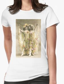 French Dancers vintage photo Womens Fitted T-Shirt