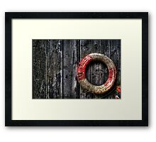 The Life Saver Framed Print